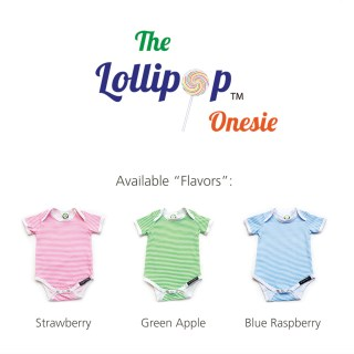 "The Lollipop Onesie - Available ""Flavors"""